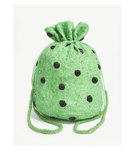 GANNI 爱迪生珠片袋 (经典 + 绿色