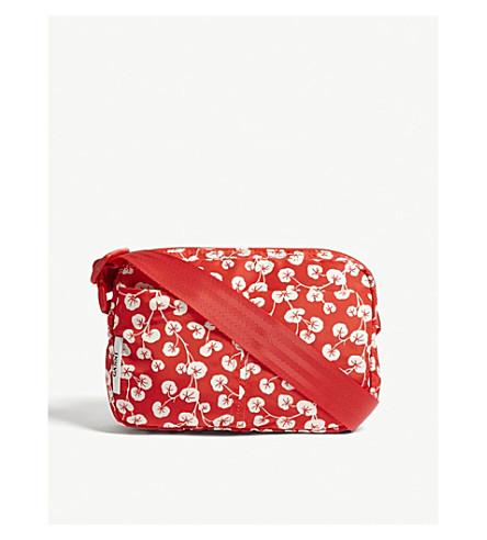 GANNI Floral-print small nylon cross-body bag (Fiery+red