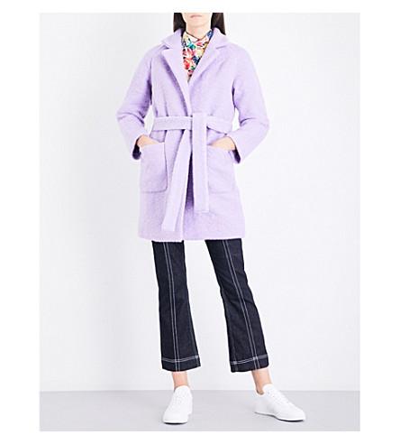 GANNI Fenn wool-blend coat (Pastel+lilac