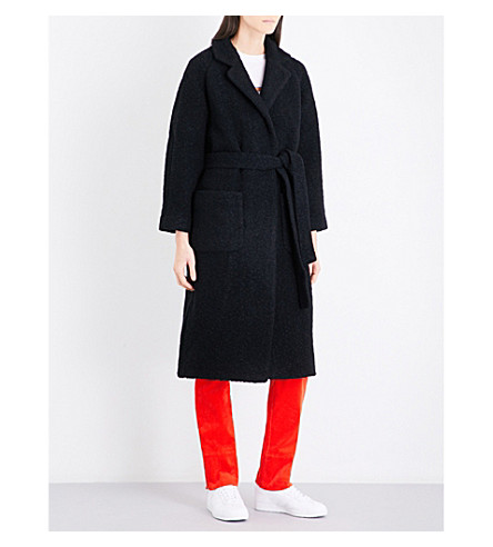 GANNI Fenn wool-blend coat (Black