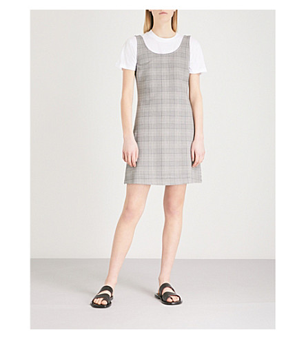 GANNI Gavery checked woven dress (Paloma+melange