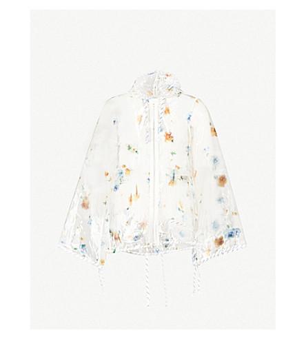 GANNI Petunia floral-print PVC jacket (Transparent