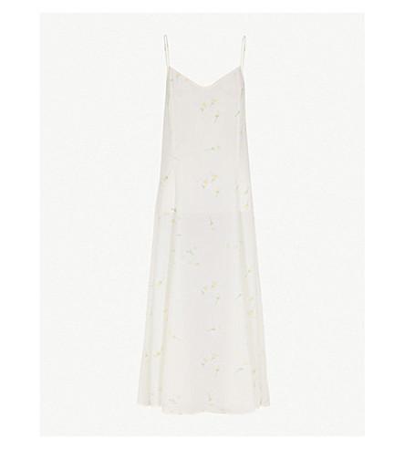GANNI Nolana silk-crepe slip dress (Egret