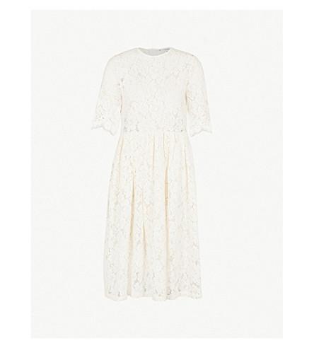 GANNI Jerome lace dress (Egret