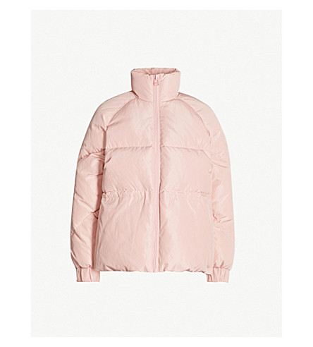 GANNI Whitman padded shell-down jacket (Sil pink