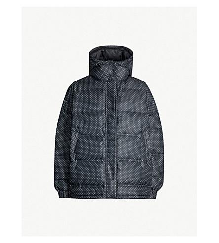 GANNI Foxworth polka dot shell-down jacket (Black