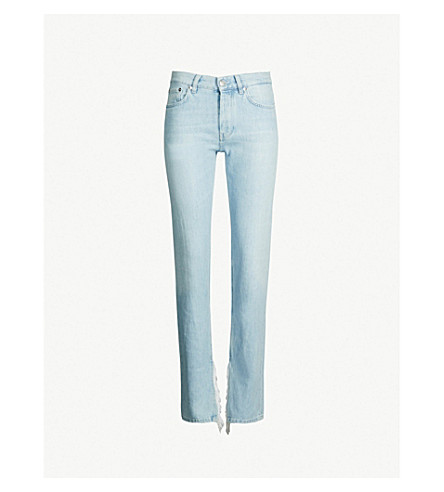 GANNI Sheldon straight high-rise jeans (Blch denim