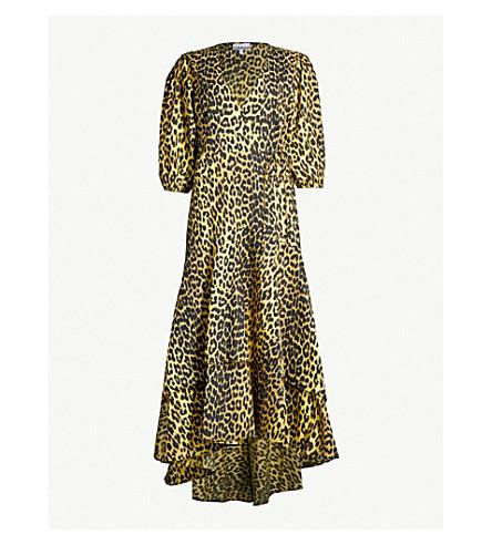 GANNI Bijou leopard-print cotton dress (Minionyell