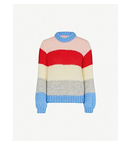 GANNI Julliard mohair and wool-blend jumper (Block+colour