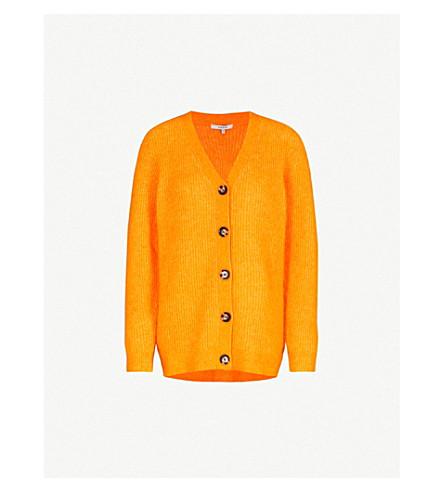 GANNI Evangelista wool and mohair-blend cardigan (Turmeric+orange