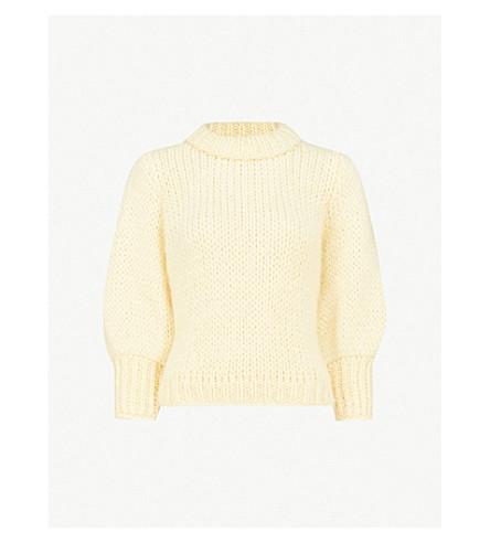 GANNI 朱利亚尔马海毛和羊毛混纺毛衣 (八角 + 花