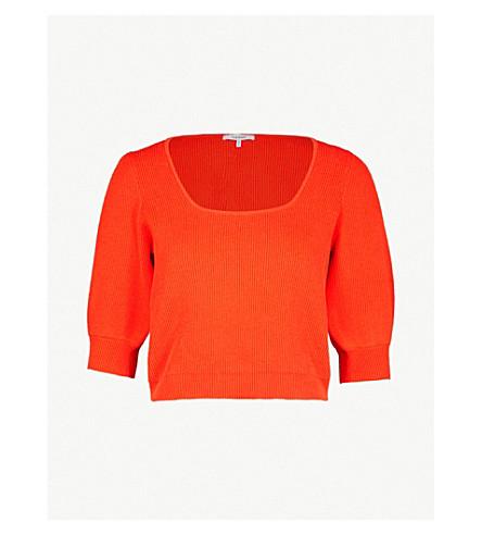 GANNI Poppy cotton-blend jumper (Big+apple+red