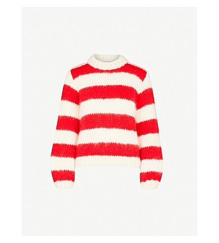 GANNI Julliard mohair and wool-blend sweater (Egret