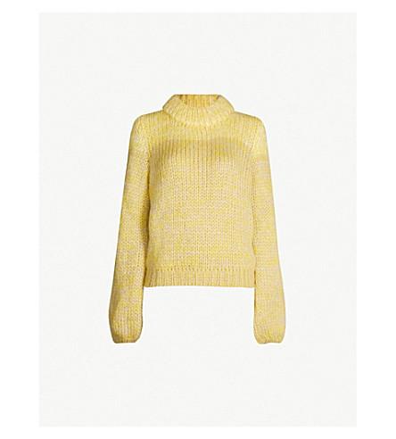 GANNI Julliard mohair and wool-blend sweater (Minionyell