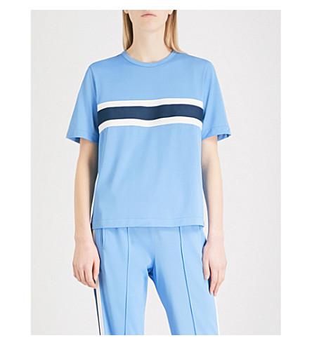 GANNI Dubois woven T-shirt (Marina