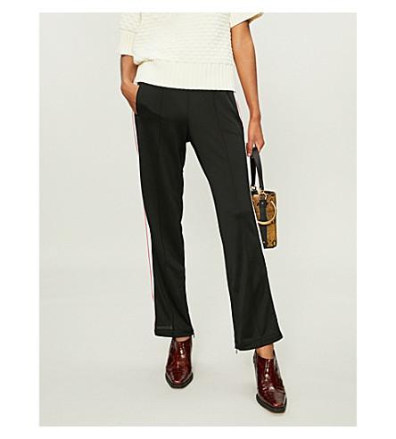 GANNI Dubois side-stripe piqué trousers (Black