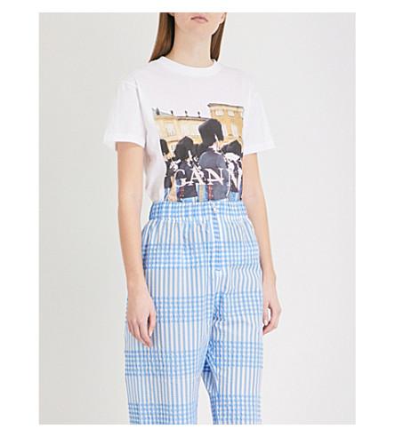 GANNI Harway Garder cotton-jersey T-shirt (Bright+white