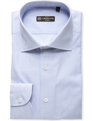 CORNELIANI Finestripe slim-fit cotton shirt