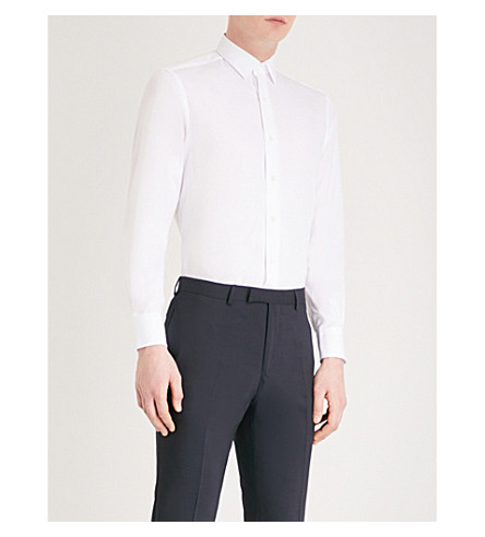 LANVIN Slim-fit cotton shirt (White