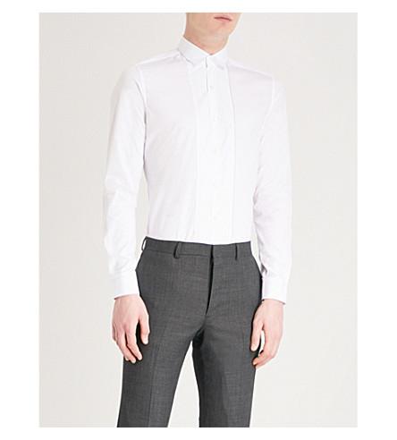 LANVIN Tuxedo-style slim-fit cotton shirt (White