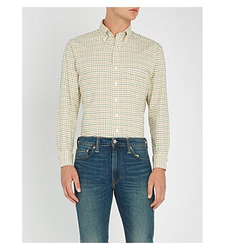a slim cuadros de algodón Multi fit DRAKES cuadros Camisa nYwqSzxp