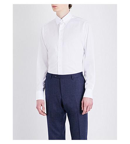 DRAKES Regular-fit cotton-poplin shirt (White