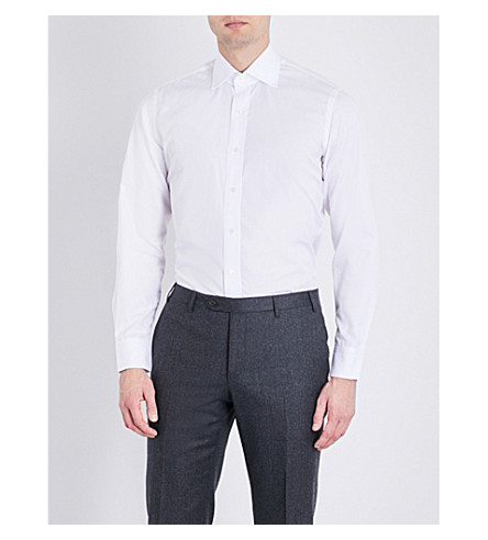 EMMETT LONDON Chelsea fine poplin shirt (White