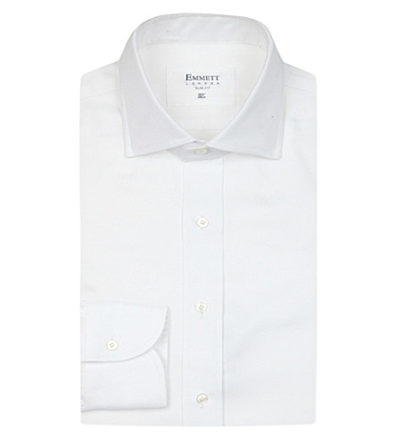 EMMETT LONDON Oxford Chelsea slim-fit cotton shirt (White
