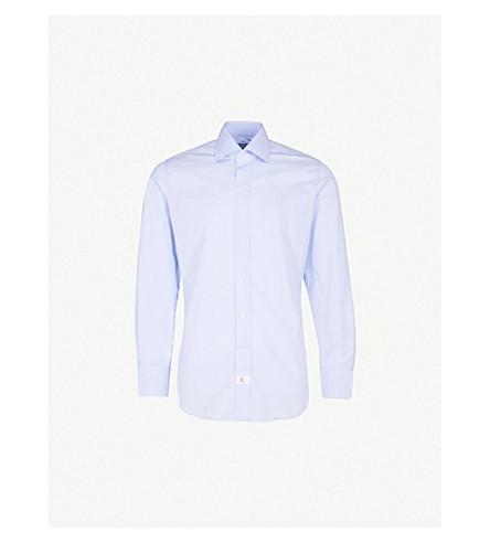 EMMETT LONDON Slim-fit cotton shirt (Sky+blue
