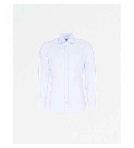 EMMETT LONDON Slim-fit cotton Oxford shirt (Sky+blue