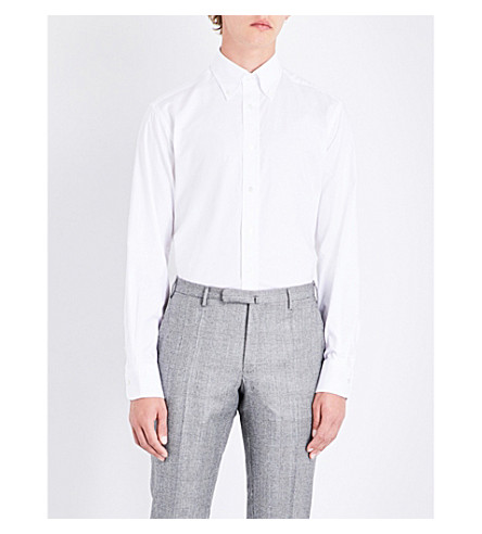 EMMETT LONDON Slim-fit cotton shirt (White