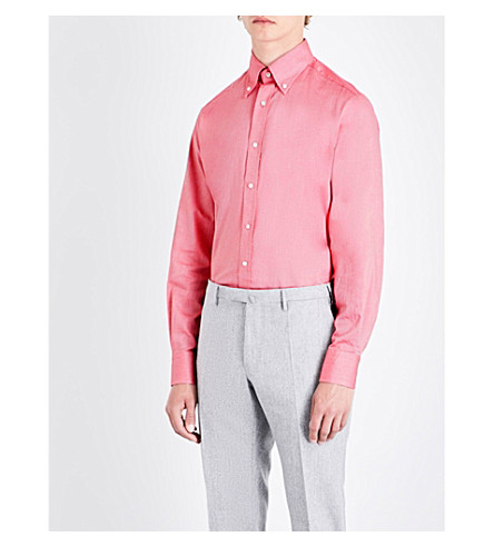 EMMETT LONDON Slim-fit cotton shirt (Red