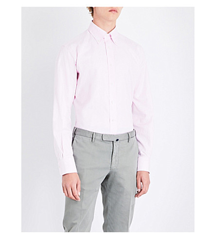 EMMETT LONDON Slim-fit cotton shirt (Light+pink