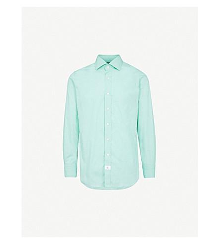 EMMETT LONDON Slim-fit cotton shirt (Green