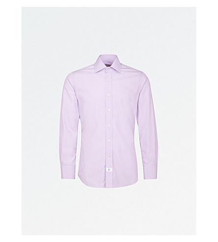 EMMETT LONDON Slim-fit cotton shirt (Lilac