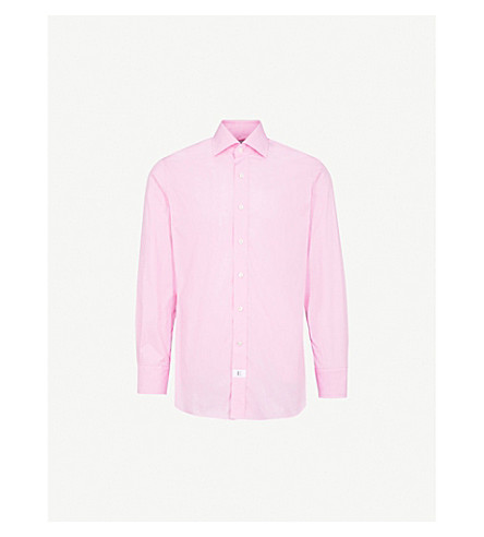 EMMETT LONDON Slim-fit cotton shirt (Pale+pink