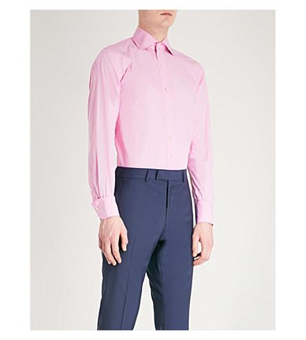EMMETT LONDON Slim-fit cotton shirt (Pale+pink