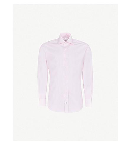 EMMETT LONDON Bengal-stripe slim-fit cotton shirt (Pink