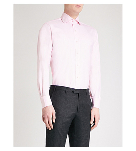 EMMETT LONDON Slim-fit cotton Oxford shirt (Pink