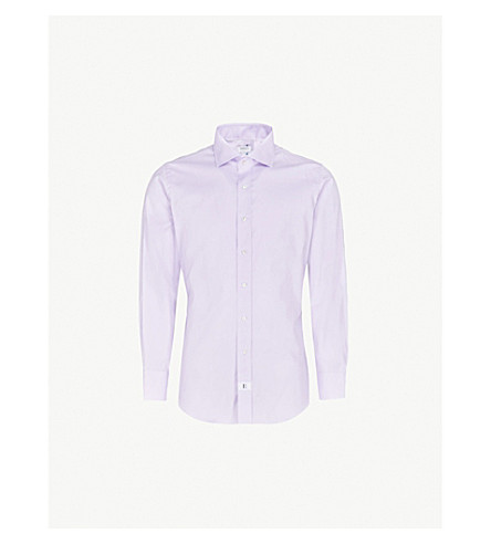 EMMETT LONDON Slim-fit cotton Oxford shirt (Lilac