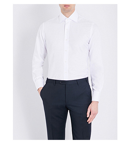 EMMETT LONDON Chelsea slim-fit cotton shirt (White