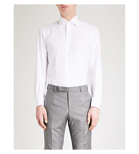 EMMETT LONDON Slim-fit cotton Oxford shirt (White