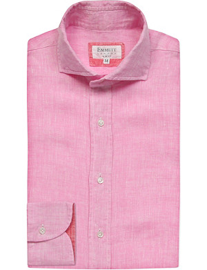 EMMETT LONDON Slim-fit single-cuff linen shirt