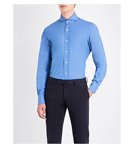 EMMETT LONDON Slim-fit denim shirt (Chambray