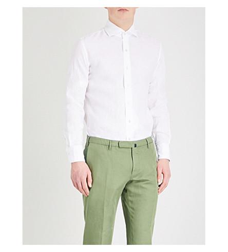 EMMETT LONDON Slim-fit linen shirt (White