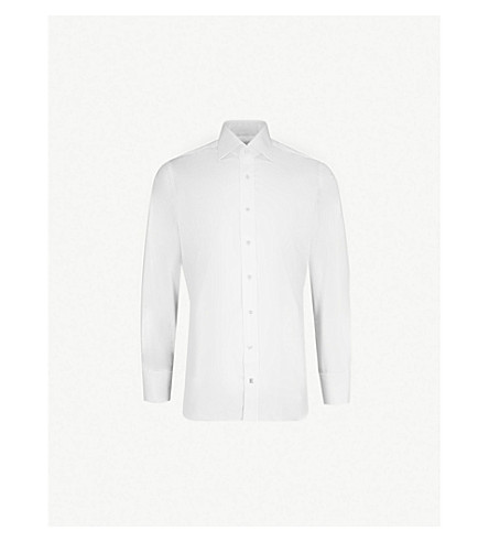 EMMETT LONDON Slim-fit cotton-twill shirt (White