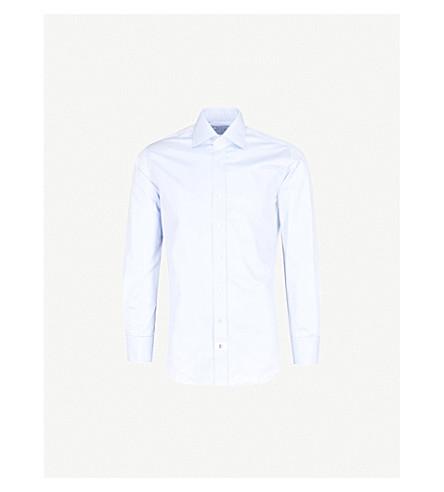 EMMETT LONDON Slim-fit cotton-twill shirt (Blue
