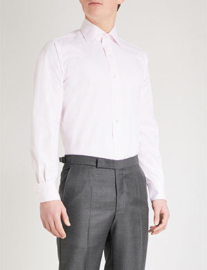 EMMETT LONDON Slim-fit single-cuff cotton-twill shirt