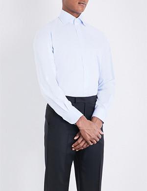 EMMETT LONDON Slim-fit single-cuff cotton-twill shirt