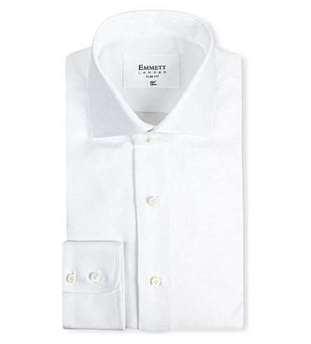 EMMETT LONDON Panama spread collar shirt (White